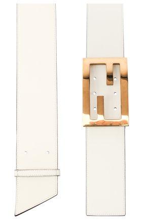 Женский кожаный ремень FENDI белого цвета, арт. 8C0612 A5DY   Фото 2