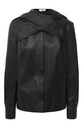 Женская кожаная блузка FENDI черного цвета, арт. FPC598 AC3K | Фото 1