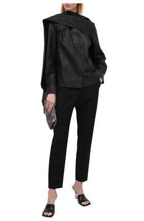 Женская кожаная блузка FENDI черного цвета, арт. FPC598 AC3K | Фото 2