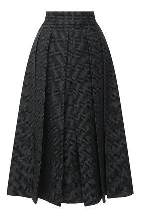 Женская шерстяная юбка FENDI серого цвета, арт. FQ7157 AC6W | Фото 1