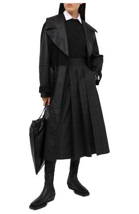 Женская шерстяная юбка FENDI серого цвета, арт. FQ7157 AC6W | Фото 2