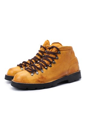 Мужские кожаные ботинки ANDREA VENTURA FIRENZE желтого цвета, арт. LE APUANE 1/IGNIS WASH/VIBRAM ARCTIC GRIP | Фото 1