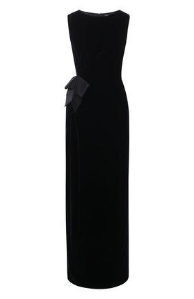 Женское шелковое платье GIORGIO ARMANI синего цвета, арт. 0WHVA079/T01FD | Фото 1