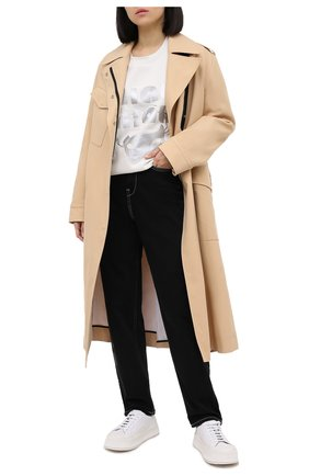 Женская хлопковый свитшот 5PREVIEW белого цвета, арт. X350 | Фото 2