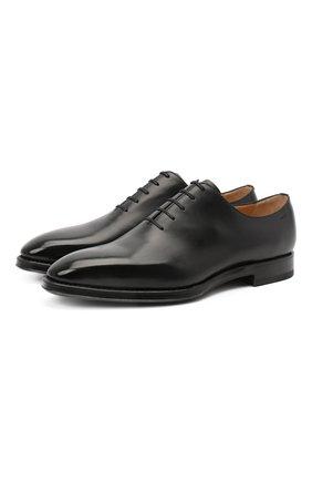 Мужские кожаные оксфорды BALLY черного цвета, арт. SC0LDER/600 | Фото 1 (Материал внутренний: Натуральная кожа; Стили: Классический)