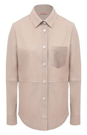 Женская кожаная рубашка YVES SALOMON бежевого цвета, арт. 9EYH22166APXX | Фото 1