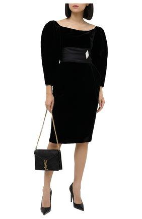 Женское платье ALEXANDRE VAUTHIER черного цвета, арт. 204DR1380 1364-204 | Фото 2