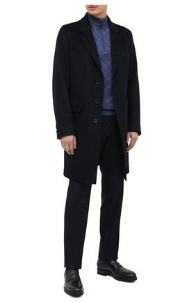 Мужские кожаные пенни-лоферы SANTONI синего цвета, арт. MCAG16988MI8YSERU59 | Фото 2