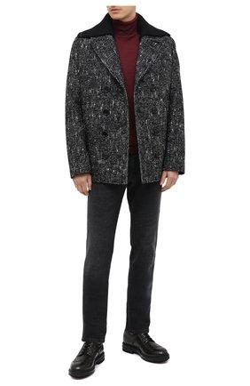 Мужской кожаные дерби SANTONI черного цвета, арт. MGMI17405JK3ZMMCG62 | Фото 2