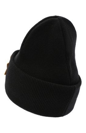 Мужская шерстяная шапка DSQUARED2 черного цвета, арт. KNM0001 01W03532 | Фото 2