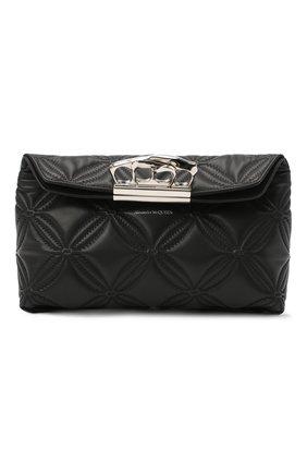Женский клатч jewelled satchel ALEXANDER MCQUEEN черного цвета, арт. 631865/13Z2Y | Фото 1