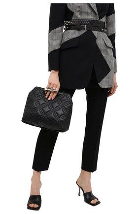 Женский клатч jewelled satchel ALEXANDER MCQUEEN черного цвета, арт. 631865/13Z2Y | Фото 2