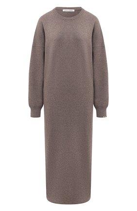 Женское кашемировое платье EXTREME CASHMERE серого цвета, арт. 106/WEIRD | Фото 1