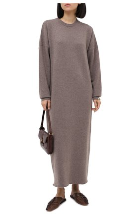 Женское кашемировое платье EXTREME CASHMERE серого цвета, арт. 106/WEIRD | Фото 2