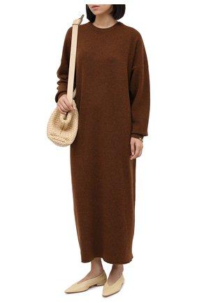Женское кашемировое платье EXTREME CASHMERE коричневого цвета, арт. 106/WEIRD | Фото 2