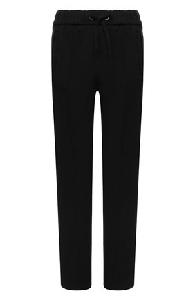 Женские хлопковые брюки PALM ANGELS черного цвета, арт. PWCA045F20FLE0011010 | Фото 1