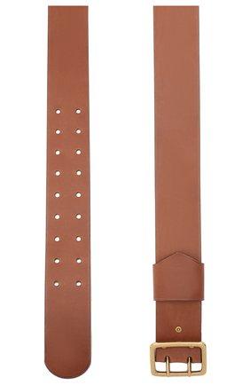 Женский кожаный ремень CHLOÉ коричневого цвета, арт. CHC20WC044815   Фото 2