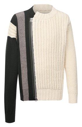 Мужской шерстяной свитер SACAI белого цвета, арт. 20-02406M   Фото 1
