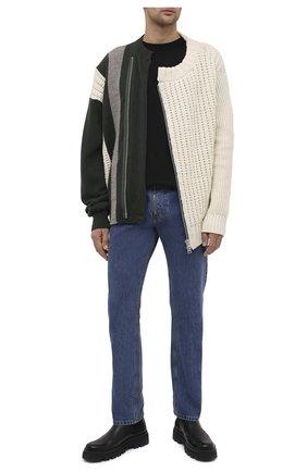 Мужской шерстяной свитер SACAI белого цвета, арт. 20-02406M   Фото 2