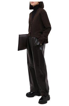 Женский кардиган PROENZA SCHOULER WHITE LABEL коричневого цвета, арт. WL2047510-KY201 | Фото 2