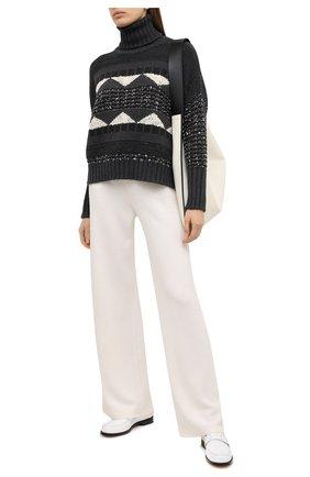 Женские кашемировые брюки LORO PIANA белого цвета, арт. FAL3597 | Фото 2