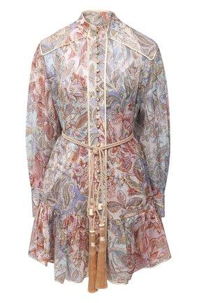 Женское шелковое платье ZIMMERMANN разноцветного цвета, арт. 9182DLKY | Фото 1