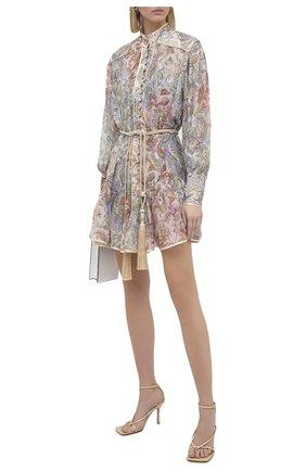 Женское шелковое платье ZIMMERMANN разноцветного цвета, арт. 9182DLKY | Фото 2