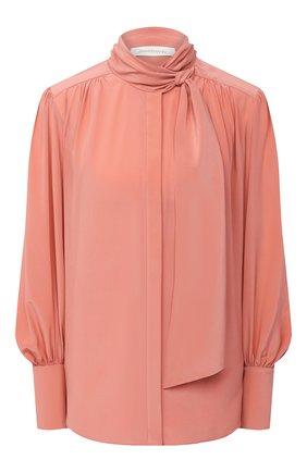 Женская шелковая блузка ZIMMERMANN розового цвета, арт. 8947TRLAD/PE0 | Фото 1