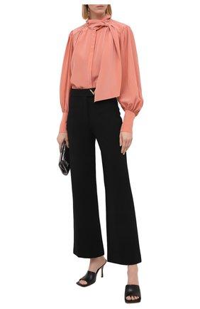 Женская шелковая блузка ZIMMERMANN розового цвета, арт. 8947TRLAD/PE0 | Фото 2