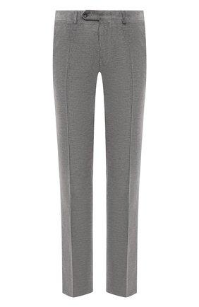 Мужские брюки из смеси хлопка и кашемира CANALI светло-серого цвета, арт. T71012/AX02876 | Фото 1