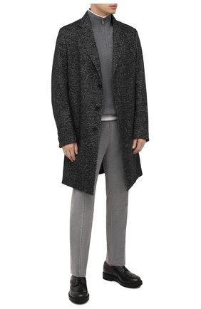 Мужские брюки из смеси хлопка и кашемира CANALI светло-серого цвета, арт. T71012/AX02876 | Фото 2
