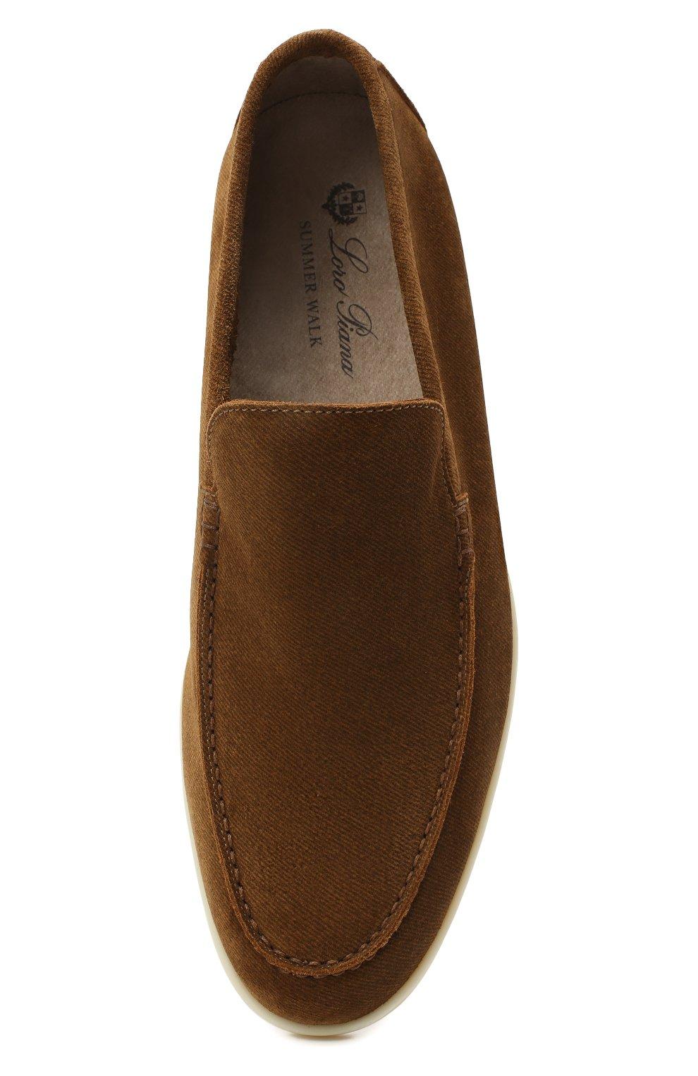Мужские замшевые лоферы LORO PIANA коричневого цвета, арт. FAL3761 | Фото 5