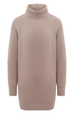 Женский кашемировый свитер MOORER бежевого цвета, арт. DAMES-CWS/A20MW04CA22   Фото 1