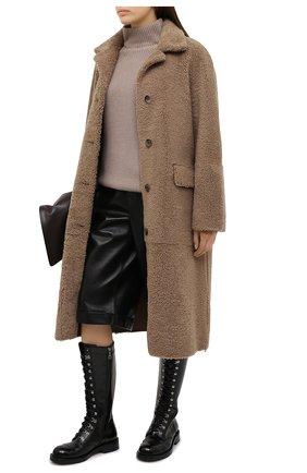 Женский кашемировый свитер MOORER бежевого цвета, арт. DAMES-CWS/A20MW04CA22   Фото 2