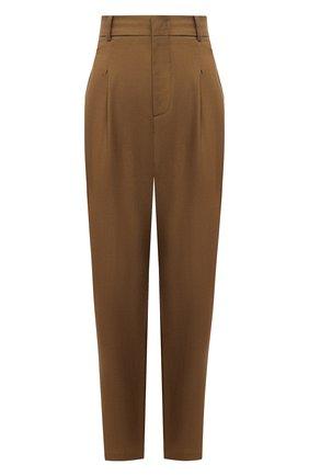 Женские шерстяные брюки ERIKA CAVALLINI хаки цвета, арт. W0/E/E0WP02 | Фото 1