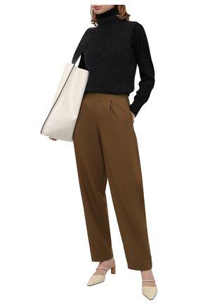 Женские шерстяные брюки ERIKA CAVALLINI хаки цвета, арт. W0/E/E0WP02 | Фото 2