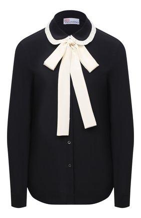 Женская шелковая блузка REDVALENTINO черно-белого цвета, арт. UR3ABA80/48P | Фото 1