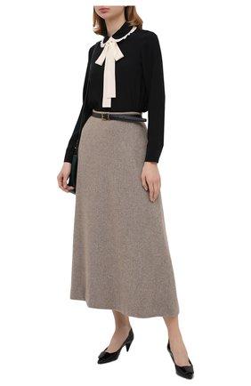 Женская шелковая блузка REDVALENTINO черно-белого цвета, арт. UR3ABA80/48P | Фото 2