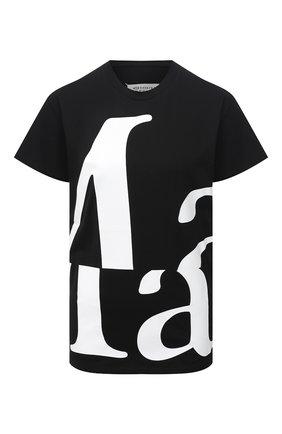 Женская хлопковая футболка MAISON MARGIELA черного цвета, арт. S51GC0496/S22816 | Фото 1