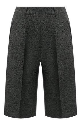 Женские шерстяные шорты MAISON MARGIELA темно-зеленого цвета, арт. S29MU0068/S53407 | Фото 1