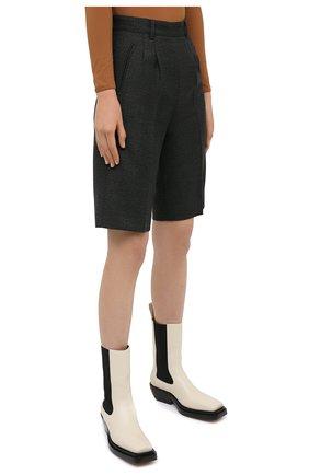 Женские шерстяные шорты MAISON MARGIELA темно-зеленого цвета, арт. S29MU0068/S53407 | Фото 3 (Женское Кросс-КТ: Шорты-одежда; Материал внешний: Шерсть; Длина Ж (юбки, платья, шорты): Мини; Кросс-КТ: Широкие; Стили: Кэжуэл)