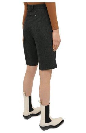 Женские шерстяные шорты MAISON MARGIELA темно-зеленого цвета, арт. S29MU0068/S53407 | Фото 4 (Женское Кросс-КТ: Шорты-одежда; Материал внешний: Шерсть; Длина Ж (юбки, платья, шорты): Мини; Кросс-КТ: Широкие; Стили: Кэжуэл)