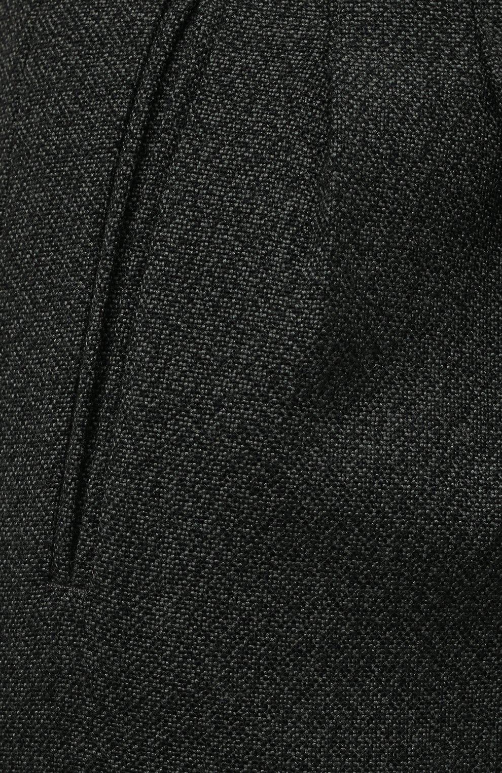 Женские шерстяные шорты MAISON MARGIELA темно-зеленого цвета, арт. S29MU0068/S53407 | Фото 5 (Женское Кросс-КТ: Шорты-одежда; Материал внешний: Шерсть; Длина Ж (юбки, платья, шорты): Мини; Кросс-КТ: Широкие; Стили: Кэжуэл)