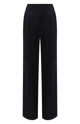 Женские брюки MAISON MARGIELA темно-синего цвета, арт. S29KA0353/S52159 | Фото 1