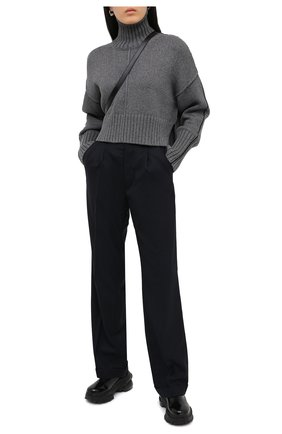 Женские брюки MAISON MARGIELA темно-синего цвета, арт. S29KA0353/S52159 | Фото 2