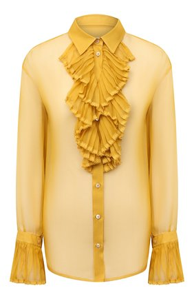 Женская шелковая блузка MAISON MARGIELA желтого цвета, арт. S29DL0190/S38057 | Фото 1