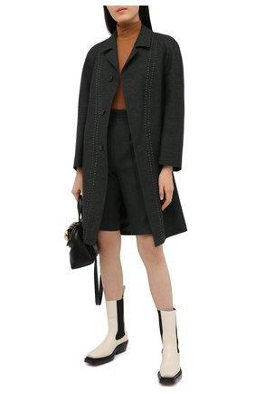Женское шерстяное пальто MAISON MARGIELA темно-зеленого цвета, арт. S29AA0256/S53407   Фото 2