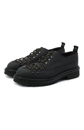 Мужские кожаные ботинки ATTIMONELLI'S черного цвета, арт. AA439 | Фото 1