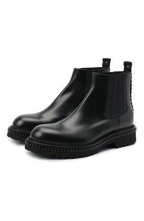 Мужские кожаные челси ATTIMONELLI'S черного цвета, арт. AA451 | Фото 1
