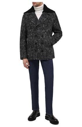 Мужские кожаные челси ATTIMONELLI'S черного цвета, арт. AA451 | Фото 2